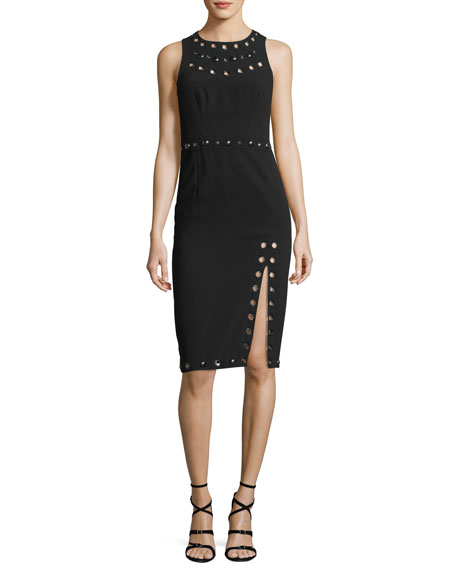 Nanette Lepore Fierce Frock Jewel-Neck Sleeveless Sheath Dress