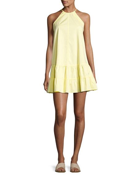 Sleeveless Drop-Waist Halter Tank Dress