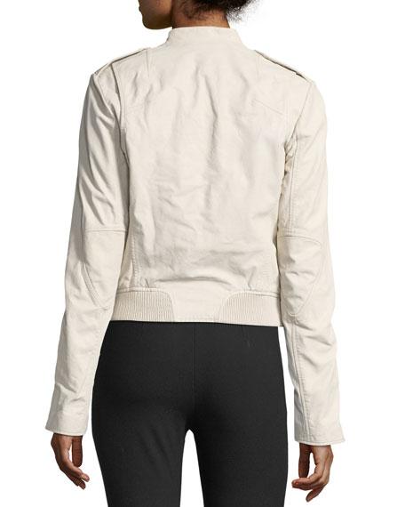 Lyon Washed Leather Moto Jacket