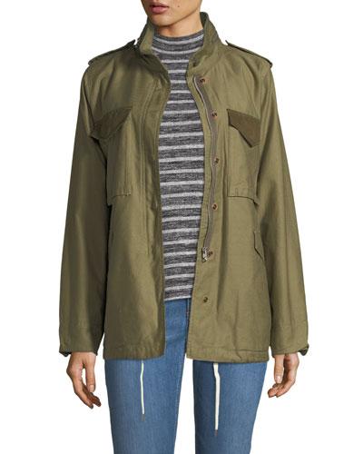 Ash Field Zip-Front Utility Jacket