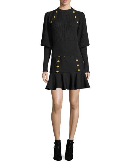Morrison Sailor Flounce Mini Skirt
