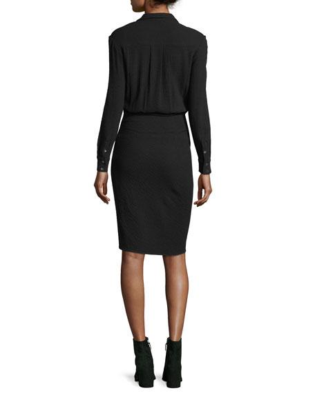 Wren Long-Sleeve Twist-Skirt Shirtdress