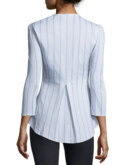 Pismo Striped Peplum Shirt