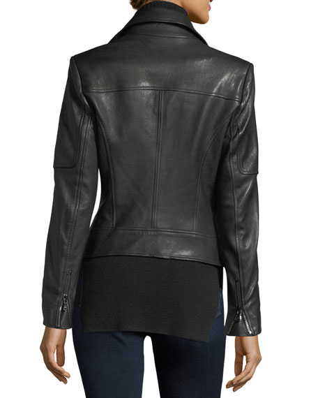 Mica Leather Biker Jacket