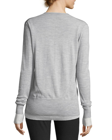 Alyssa Button-Front Cardigan Sweater