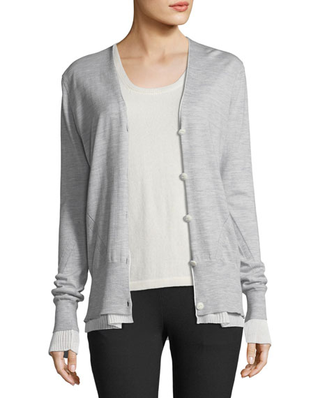 Alyssa Button-Front Cardigan Sweater