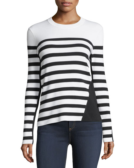 Striped Crewneck Pullover Top