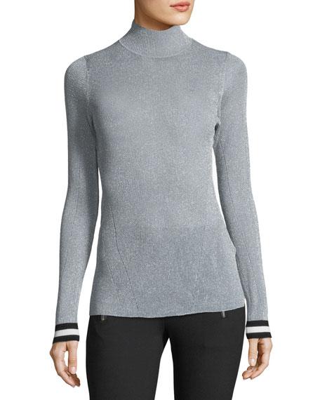 Rag & Bone Priya Turtleneck Metallic Sweater w/