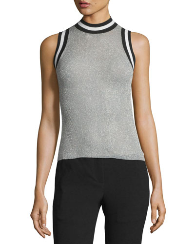 Priya Mock-Neck Wool Knit Tank