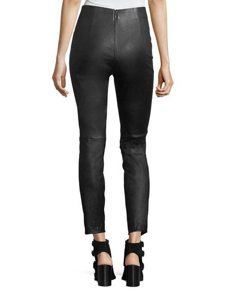 Simone High-Rise Skinny Leather Pants