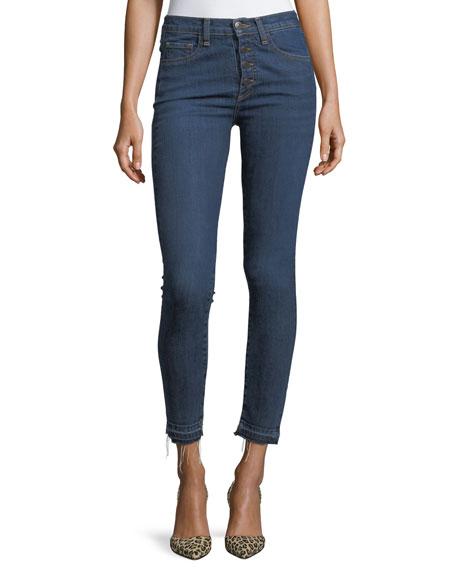 """Debbie 10"""" Raw-Hem Button-Fly Denim Jeans"""