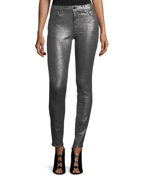 620 Mid-Rise Super Skinny Metallic Jeans