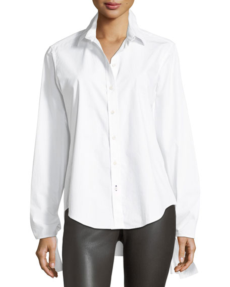 Thomas Chemise Blanche Long-Sleeve Tie-Cuff Shirt