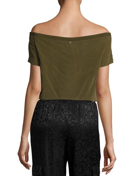 Hadley Off-the-Shoulder Silk Top