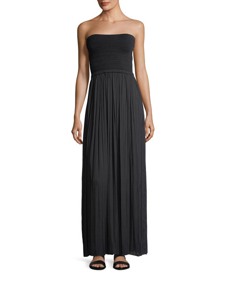 Elizabeth and James Emmaline Strapless Knit Combo Maxi