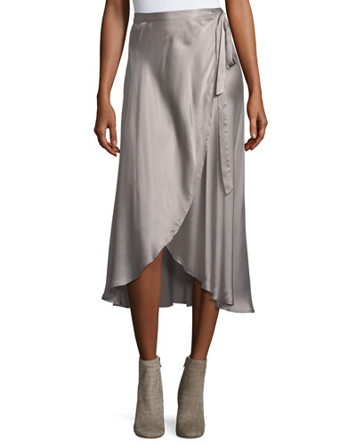 Dahoma Silk Wrap Skirt