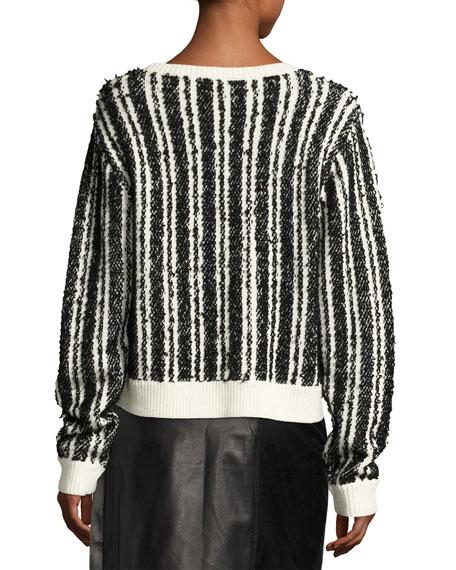 Nabila Striped Wool-Knit Sweater