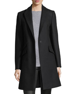 Duchess One-Button Tailored 3-Pocket Coat