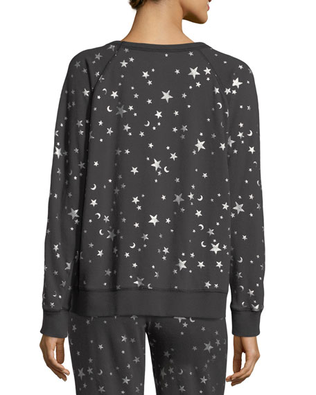 Edrie Night-Sky Round-Neck Cotton Sweatshirt