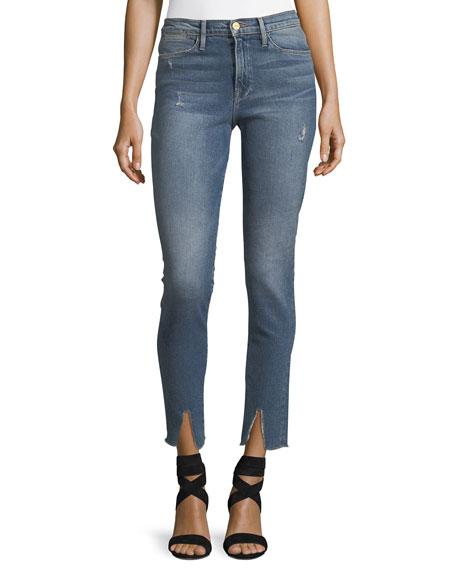 Le High Split-Hem Skinny Jeans