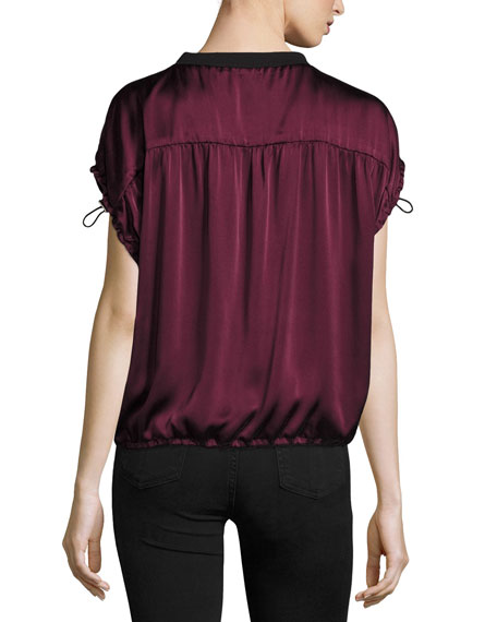 Jana Satin Drawstring Top