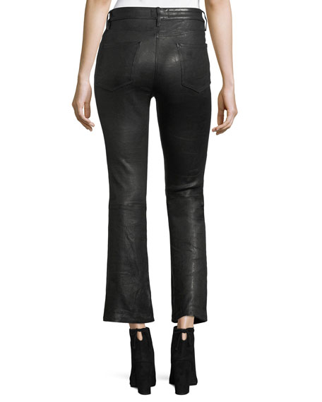 Crop Mini Boot Lamb Leather Pants