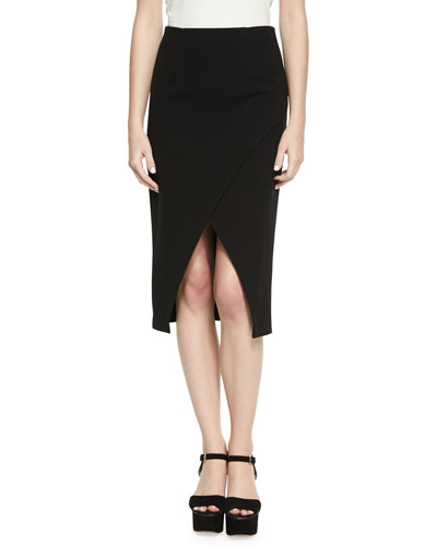 Denby Crossover Crepe Pencil Skirt