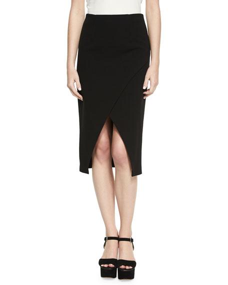 Denby Crossover Crepe Pencil Skirt