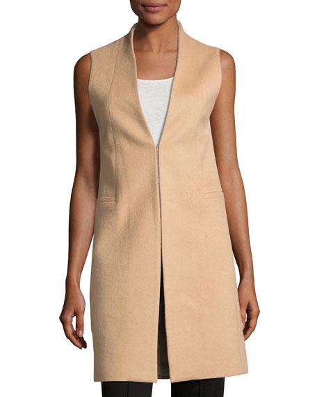 Flynn Seamed Wool-Blend Vest