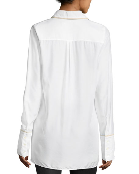Blake Oversized Long-Sleeve Poplin Shirt