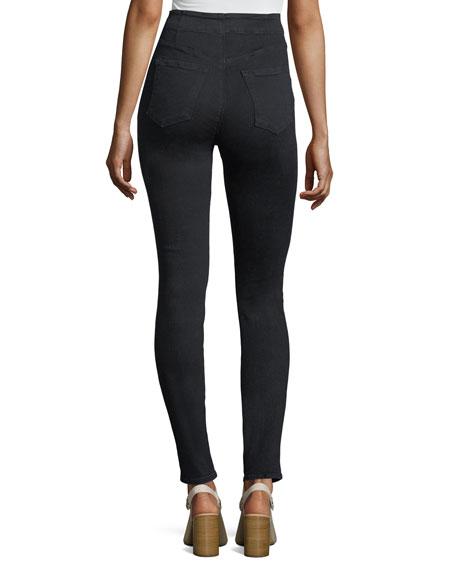 Natasha High-Waist Five-Button Skinny Jeans