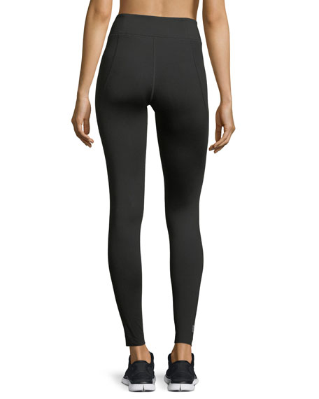 Essential High-Rise Performance Leggings, Black