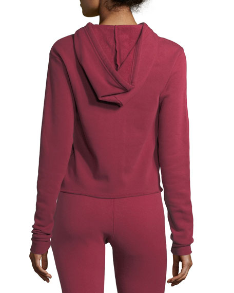 Varsity Crop Pullover Hoodie