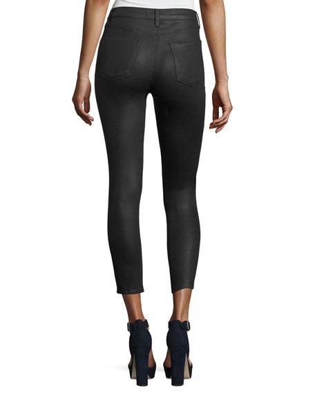 Alana High-Rise Cropped Coated Skinny Pants