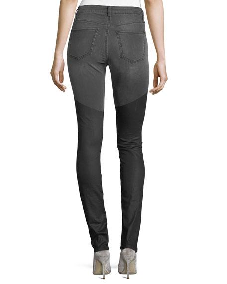 Emma Mid-Rise Wax Skinny Jeans