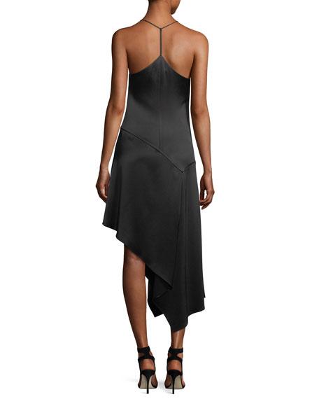 V-Neck Racerback Sleeveless Satin Slip Cocktail Dress