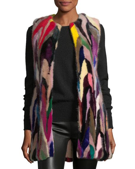 Jade Multicolor Fur Vest