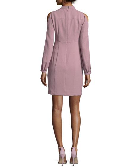 Dita Cold-Shoulder Long-Sleeve Sheath Cocktail Dress