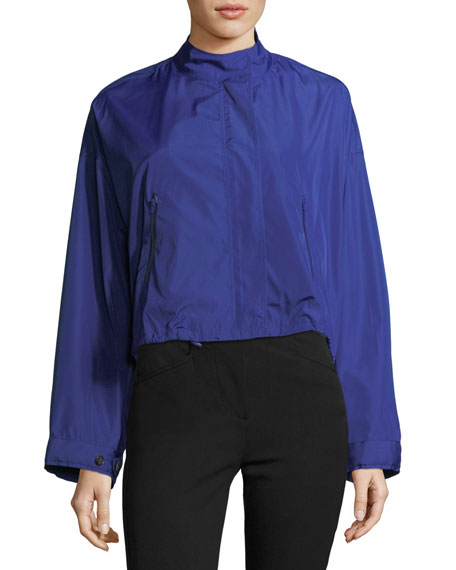 Technical Zip-Front Crop Anorak Jacket
