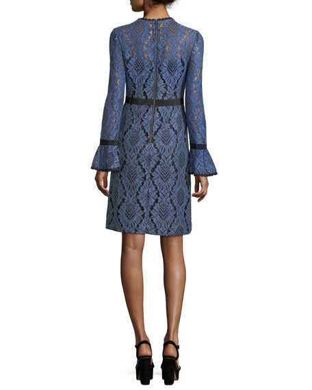 Modernist Lace A-Line Cocktail Dress