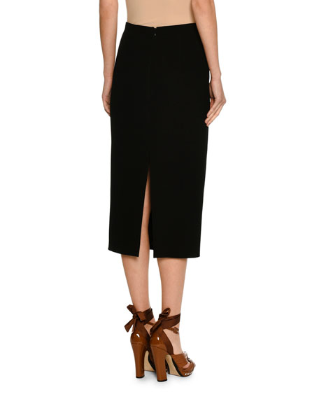 Pencil Midi Skirt w/ Embellishments