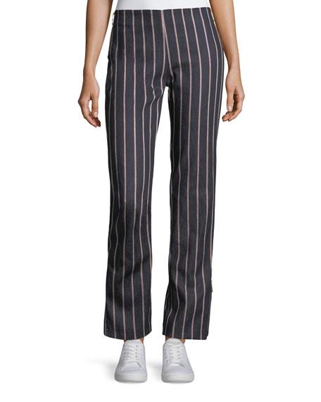 Maggie Marilyn Loyal Companion Slim Straight-Leg Striped Denim