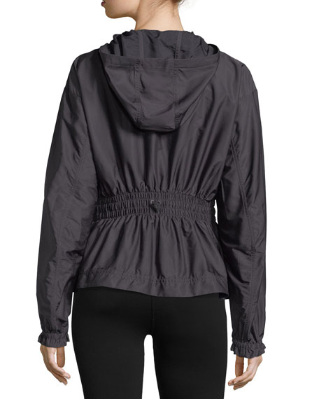 Run Zip-Front Hooded Performance Jacket