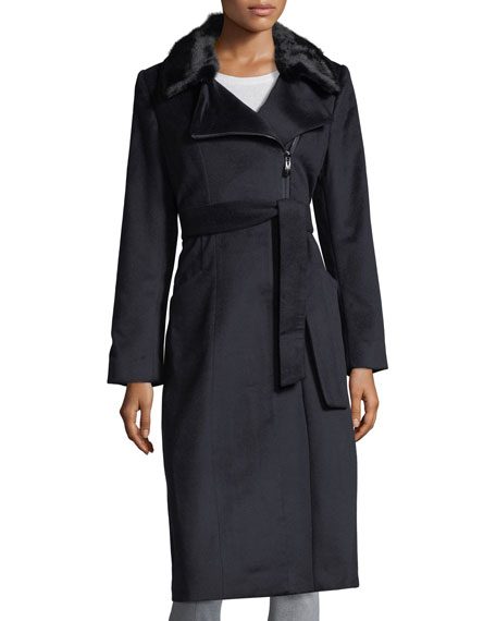 Cashmere Coat w/ Mink Collar