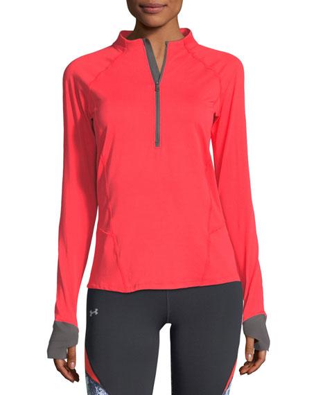 Run True Half-Zip Long-Sleeve Pullover Shirt