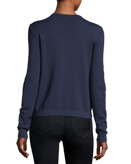 Shanaya Rabbit Fur-Trimmed Sweater