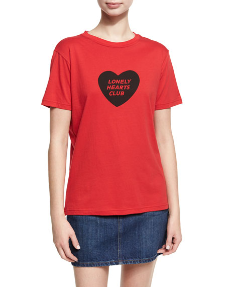 Lonely Hearts Club Boxy Crewneck Tee