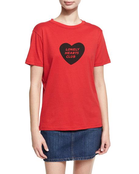 Lonely Hearts Club Boxy Crewneck Tee