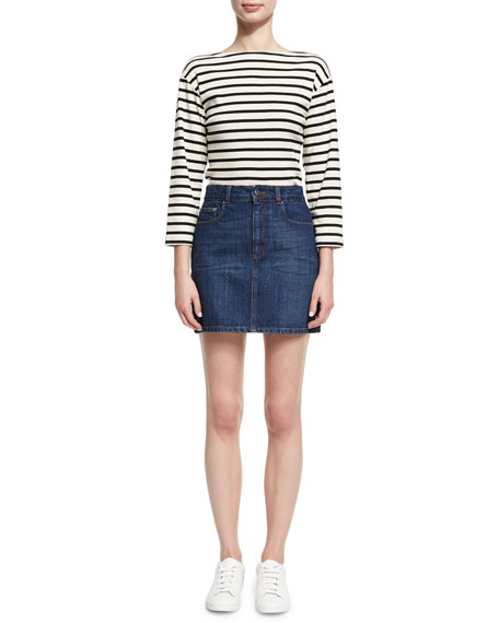 Tokyo Denim Mini Pencil Skirt