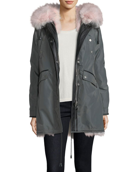 Belleville Reversible Fur-Trim Parka